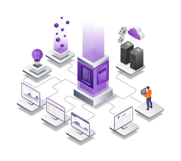 Analista dati server e hosting