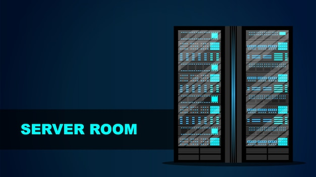 Concetto di sala server