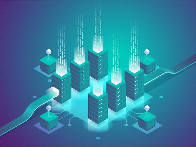 Illustrazione del rack della sala server