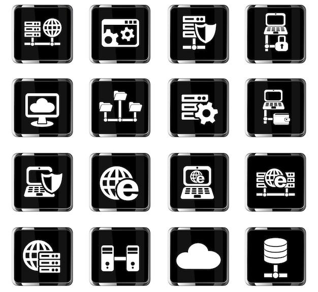 Icone web del server per la progettazione dell'interfaccia utente