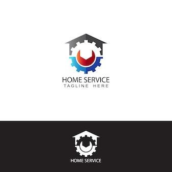 Modello di logo dell'ingranaggio di servizio