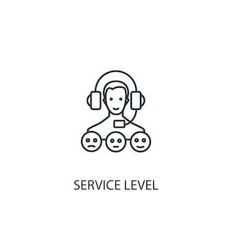 Icona della linea del concetto di livello di servizio illustrazione di semplice elemento simbolo di struttura del concetto di livello di servizio