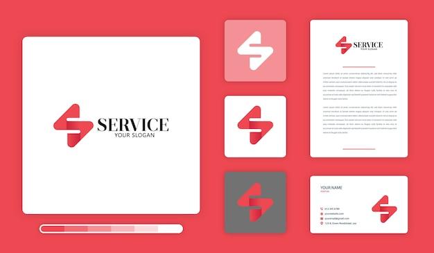 Modello di progettazione del logo di servizio