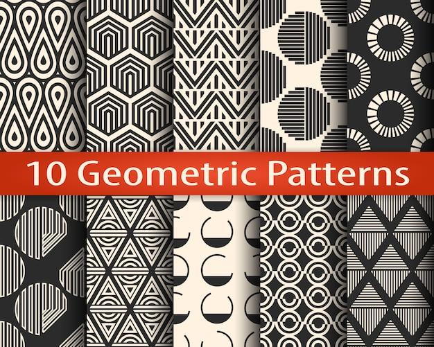 Set di 10 motivi geometrici senza soluzione di continuità