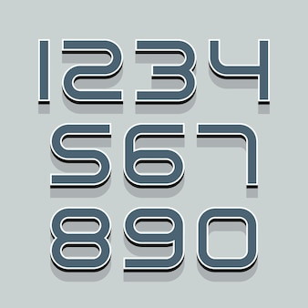 Set di numeri 3d