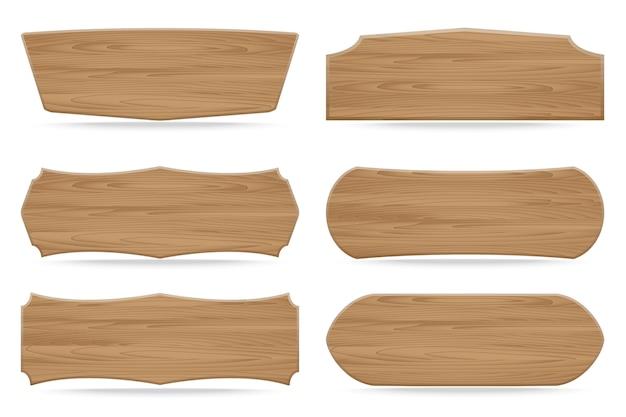 Set di 6 segnaposti in legno di forme