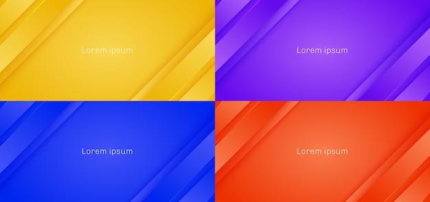 Set di linee di strisce di sfondo astratto