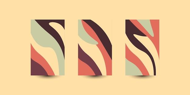 Imposta lo sfondo astratto delle onde colorate