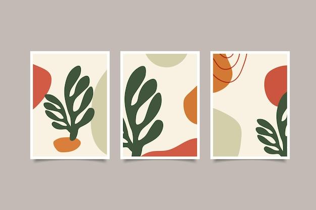 Set di raccolta di copertine astratte