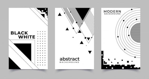 Set di sfondi creativi astratti in stile minimal alla moda. illustrazione