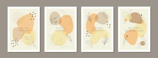 Set di modelli di design copertina universale creativa astratta con concetto colorato