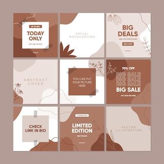 Set di modelli di design di copertine universali creative astratte
