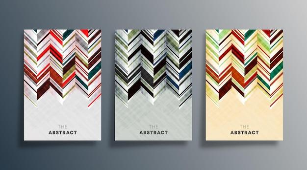 Set di copertina disegno astratto