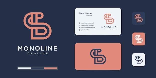 Set di design del logo monogramma iniziale astratto b & s o bs, icone per affari di lusso, elegante.