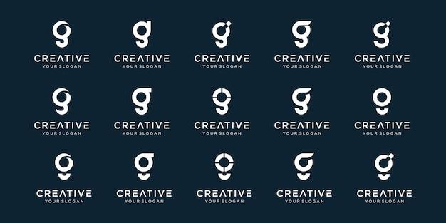 Set di abstract lettera iniziale g modello logo.
