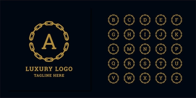 Set di modello di progettazione di logo astratto lettera iniziale. icone per affari di lusso