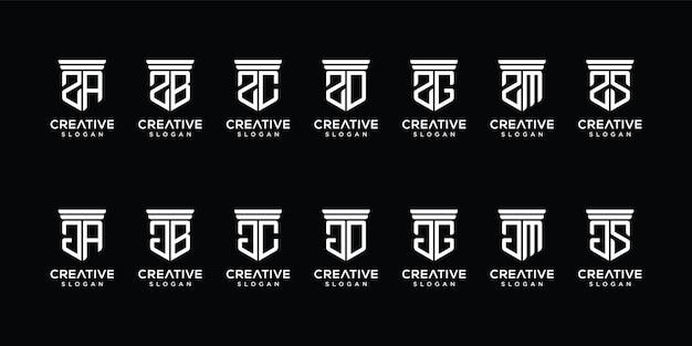 Set di modello di logo astratto lettera