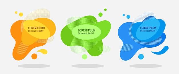 Set di astratta forma liquida illustrazione