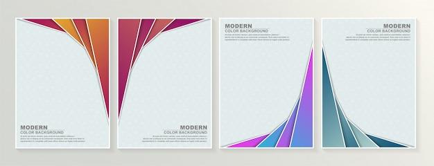 Set di design astratto copertine minime.