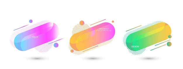 Set di elementi grafici moderni astratti e linea. bandiere astratte sfumate con forme eps10.