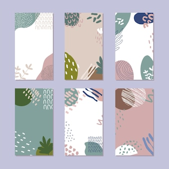 Set di pattern astratti in stile alla moda