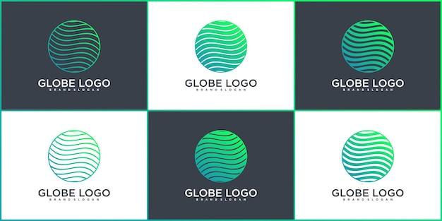 Set di icone web astratte e collezione di design del logo web vettore premium