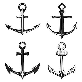 Set di icone di ancore