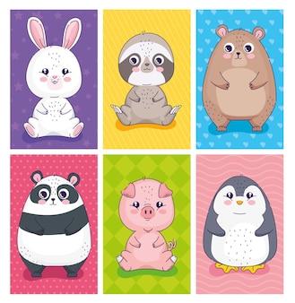 Set di caratteri di animali