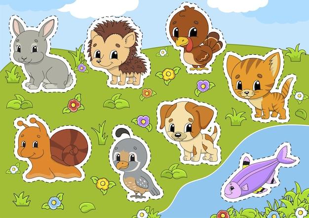 Set animali. clipart dell'animale domestico.