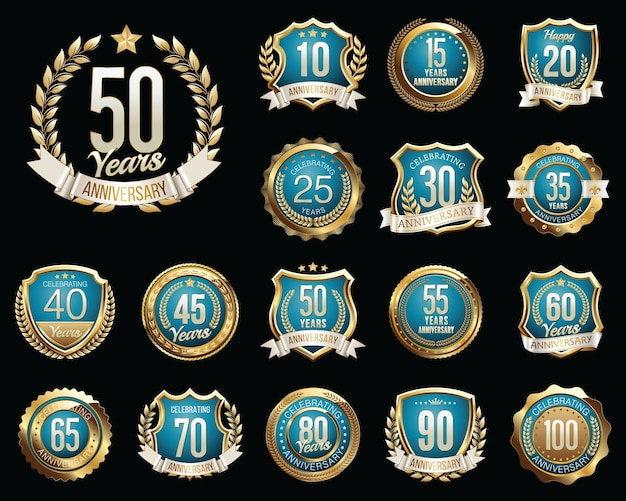 Set di badge anniversario