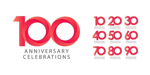 Impostare il concetto di logo design anniversario.