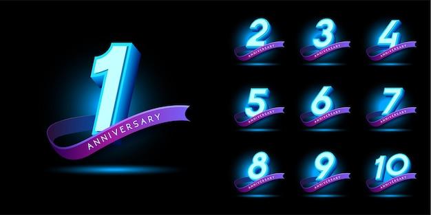 Set di emblemi dell'anniversario