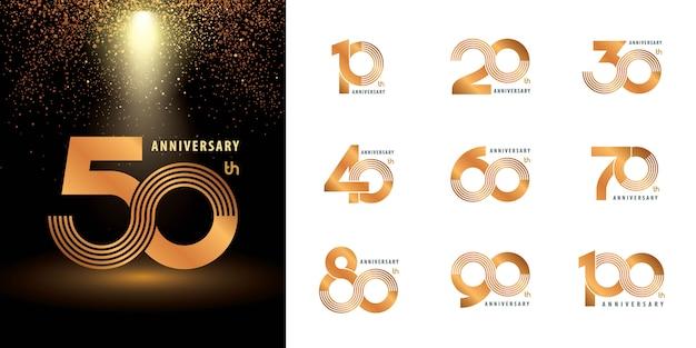 Set di etichette per anniversario