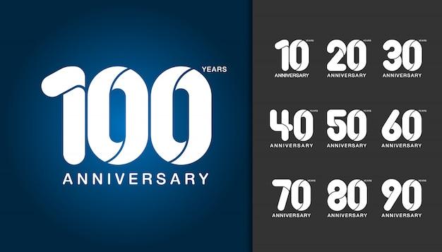 Set di logotipo di anniversario.