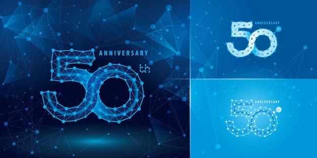 Set di logotipo di anniversario