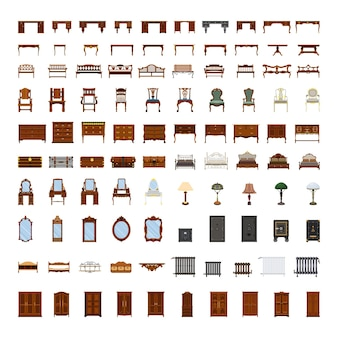 Set di mobili antichi