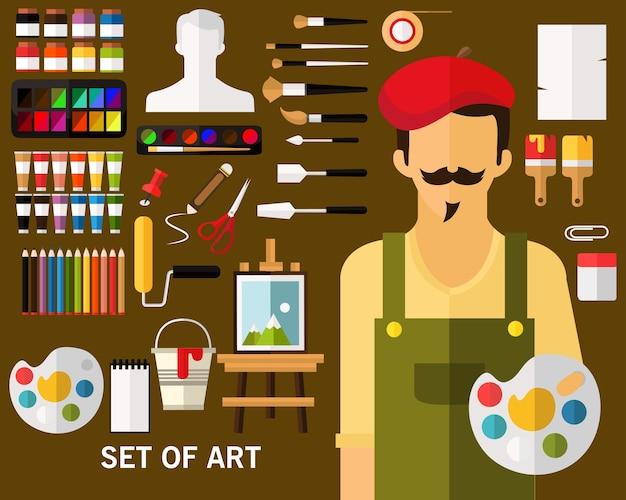 Insieme della priorità bassa di concetto di arte
