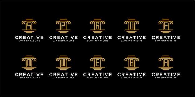 Insieme di fantastiche ispirazioni per il design del logo dello studio legale