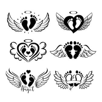 Set di impronte del bambino