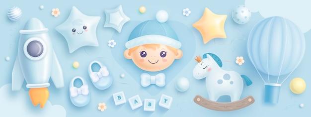 Set di elementi per baby shower