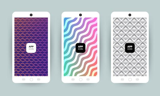 Set di sfondi con un design alla moda