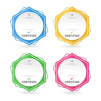 Set di certificati di badge.