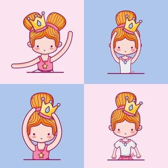 Metta l'illustrazione di vettore di progettazione della decorazione degli accessori di balletto