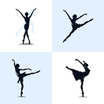 Set di balletto logo design