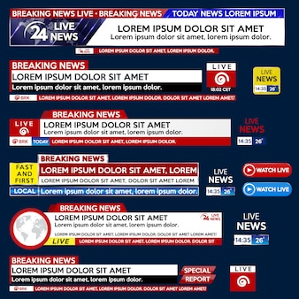 Imposta un banner per il modello breaking news per la tv su schermo