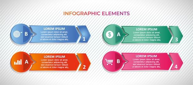 Set di banner con elementi infografici
