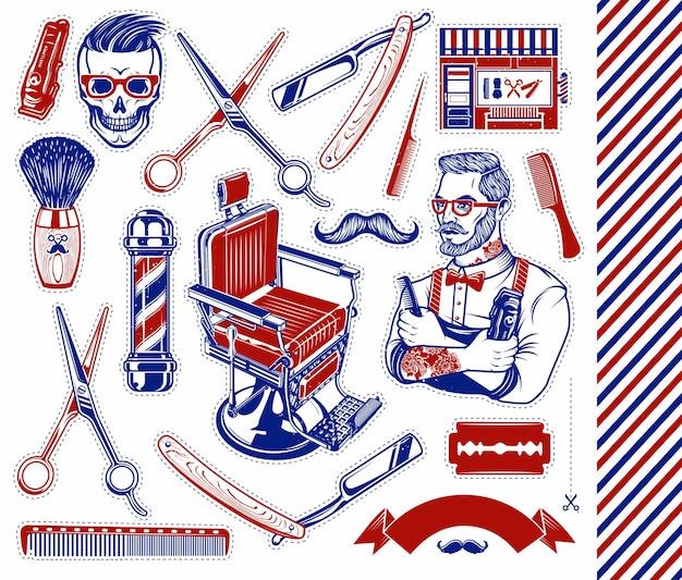 Set di strumenti da barbiere