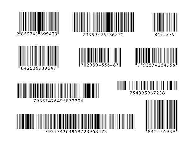 Set di codici a barre. codici qr di raccolta. illustrazione vettoriale.