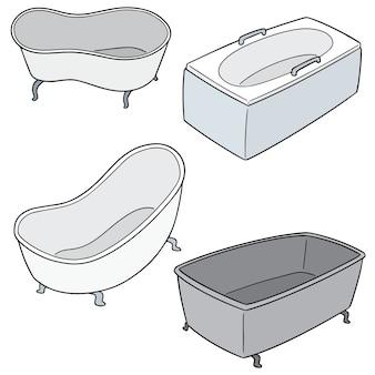 Set di vasca da bagno Vettore Premium