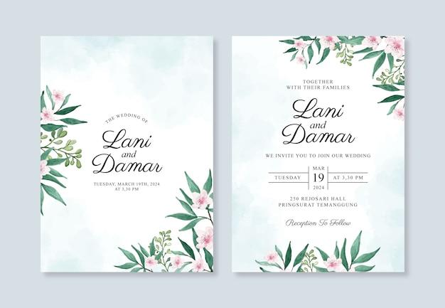 Set di bellissimi inviti di nozze